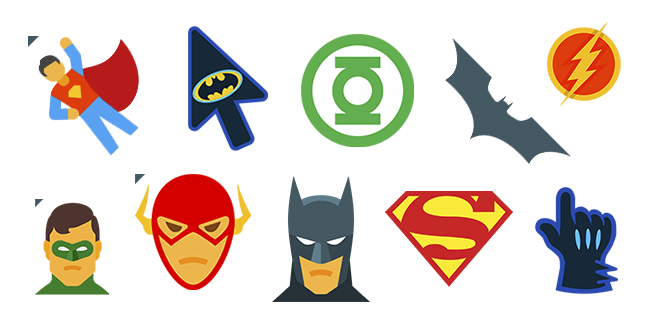 DC Comics cursor collection