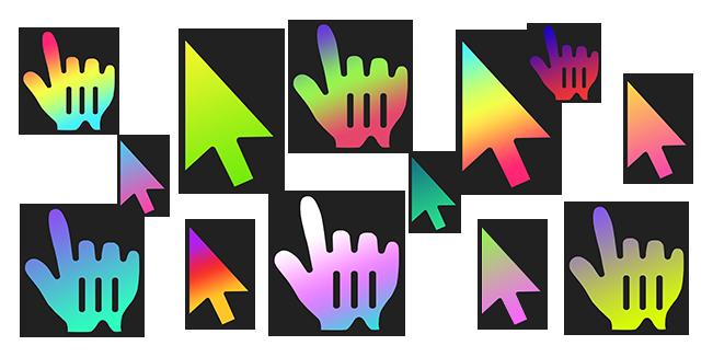 Gradient cursor collection