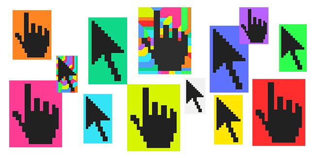 Color Pixel cursor collection