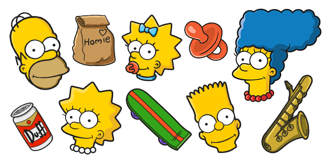 The Simpsons cursors collection