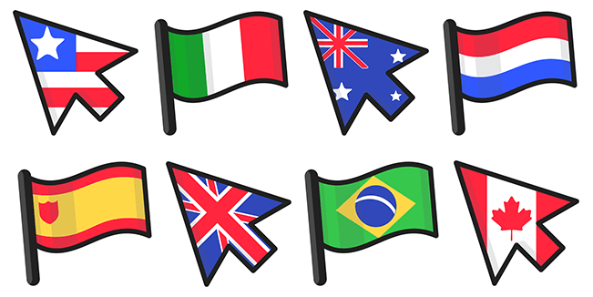 Country Flags cursor collection