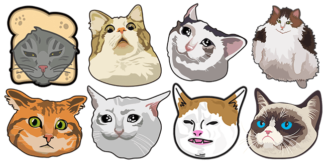 Funny Cats cursor collection