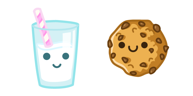 Cute Milk and Cookie Cursor