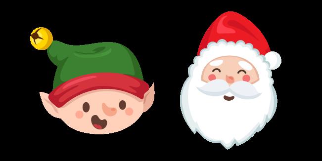Christmas Elf and Santa Claus Cursor