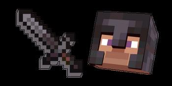 Minecraft Netherite Sword and Netherite Armor Steve
