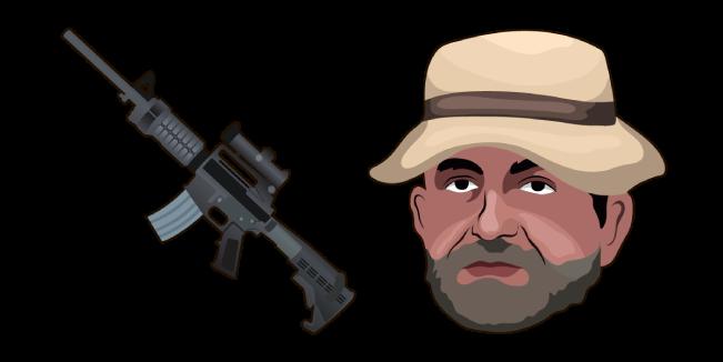 Call of Duty MW Captain Price M4 Rifle Cursor
