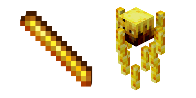 Minecraft Blaze Rod and Blaze Cursor