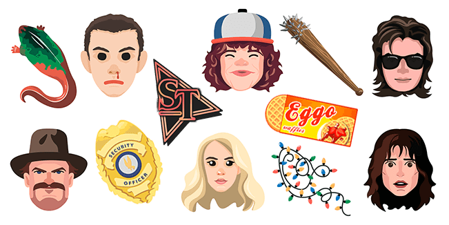 Stranger Things cursor collection
