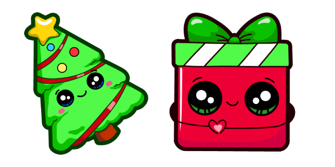 Cute Christmas Tree and Gift Cursor