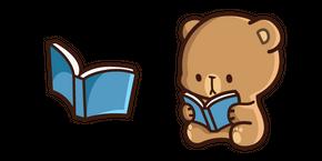 Cute Mocha Bear and Book Cursor