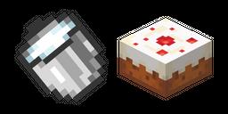 Minecraft Milk Bucket and Cake
