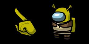 Among Us Shrek Character Cursor