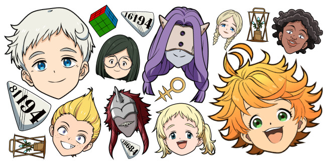 The Promised Neverland cursor collection