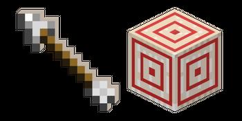 Minecraft Arrow and Target