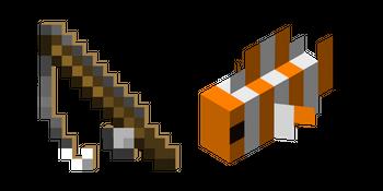 Minecraft Fishing Rod and Clownfish