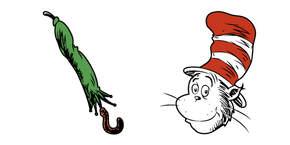 Cat in the Hat and Green Umbrella