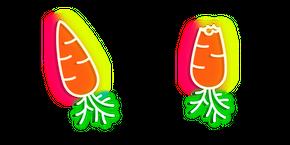 Neon Carrot Cursor
