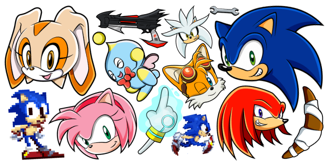 Sonic the Hedgehog cursor collection