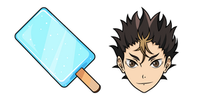 Haikyuu!! Yu Nishinoya and Gari Gari kun Popsicle