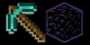 Minecraft Obsidian and Diamond Pickaxe