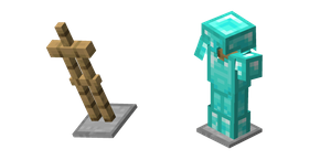 Minecraft Armor Stand and Diamond Armor