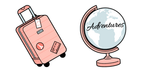 VSCO Girl Suitcase and Globe