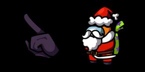 Among Us Orange Santa Character