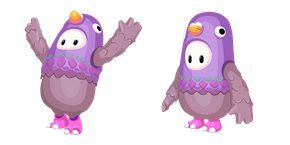 Fall Guys Character in Pigeon Costume