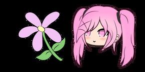 Gacha Life Sakura and Flower Cursor