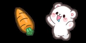 Cute Milk Bear and Carrot Cursor