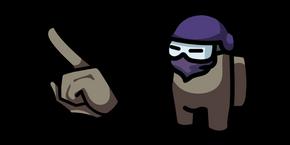 Among Us Tan Character in Ninja Mask
