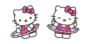 Hello Kitty and Hula Hoop